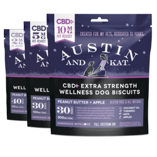 Austin and Kat CBD Infused Wellness Pet Biscuits