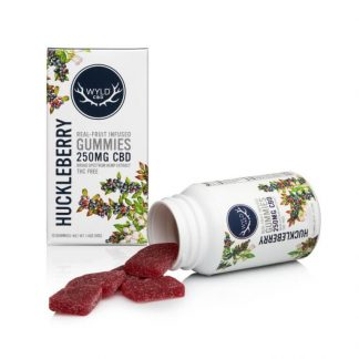Wyld Huckleberry Gummies outside packaging