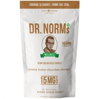 Dr. Norms Peanut Butter Chocolate Therapy Cookies