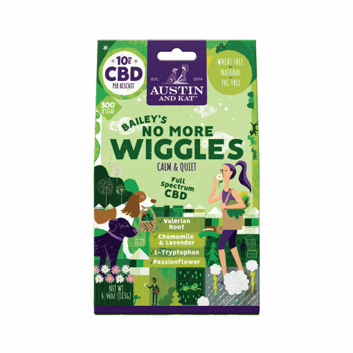 Bailey's No More Wiggles CBD Dog Biscuits