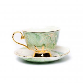 Green & Gold High Tea Cup Set