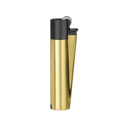 Clipper Lighter Metal Black on gold