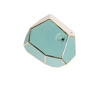 Stonedware Large Tide Pool Turquoise and Gold GeoPipe