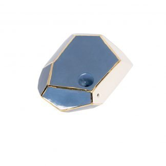 Stonedware Large GeoPipe Periwinkle Blue with 22 Gold