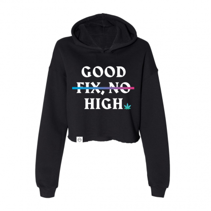 Good High Cropped Hoodie Front