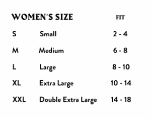 Good High Cropped Hoodie Sizing Chart