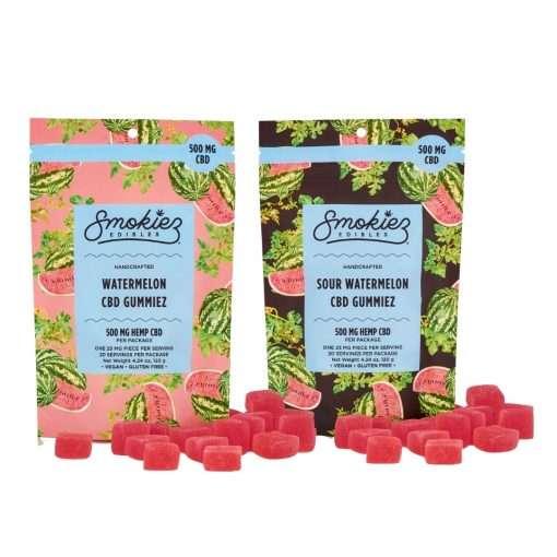 Smokiez 500mg Sweet and Sour Watermelon Gummiez