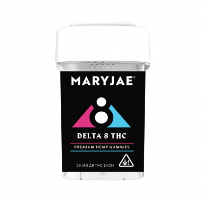 MARYJAE Delta 8 THC Premium Gummies Front Packaging