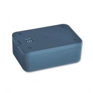 Navy Blue Lockable Storage Box MARYJAE